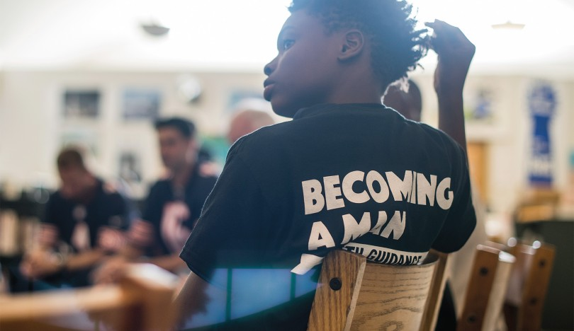 becoming a man program helps people learn to think before they act