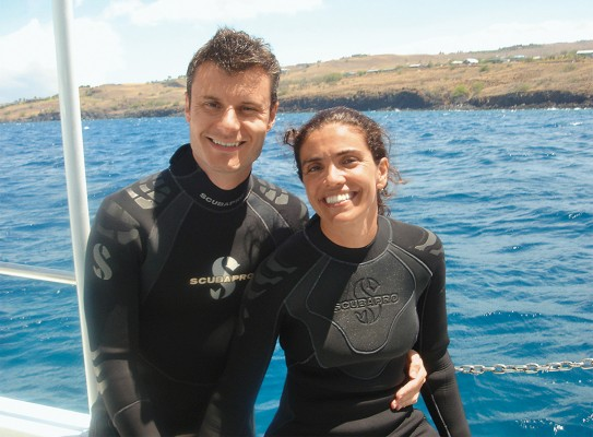 vadim backman and luisa marcelino scuba