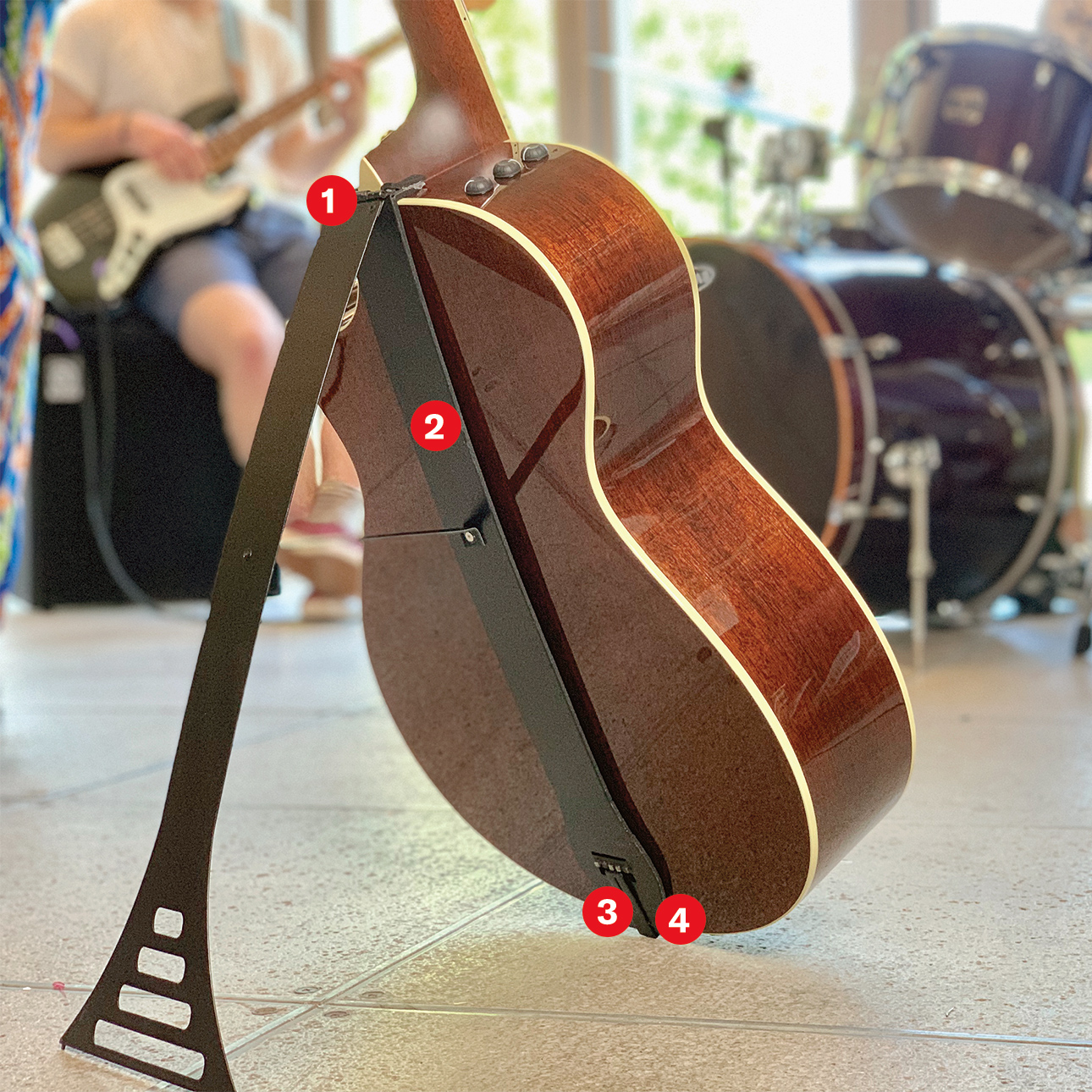 guitar stand annotate